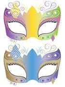 Decorative Carnival Mask - stock illustration