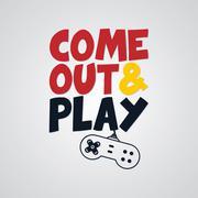 Video game joystick banner template Stock Illustration