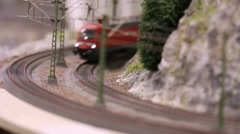 Model train is driving Stock Footage