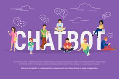 Chatbot concept illustration - stock illustration