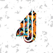 islamic abstract calligraphy art - stock illustration