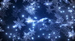 Animation of the falling snowflakes - stock footage