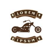 Chopper motorcycle Stock Illustration