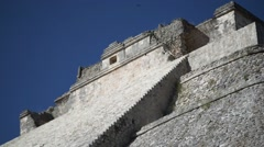 Mayan pyramid uxmal - stock footage