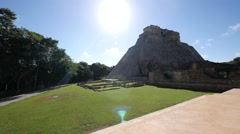 Mayan pyramid uxmal Stock Footage