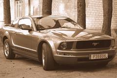 Mustang sports car - stock photo