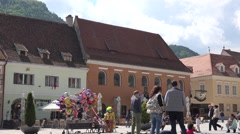 BRASOV, ROMANIA - MAY 07, 2016:Ultra Hd 4K Beautiful The Council Square Stock Footage