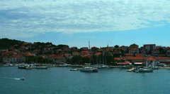 Trogir in Split-Dalmatia County, Croatia Stock Footage