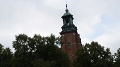 Chapel near Cathedral Basilica, Gniezno, Poland Stock Footage