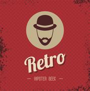 Hipster retro geek Stock Illustration