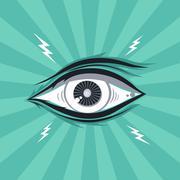 eye illustration - stock illustration