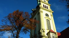 Sopot, Poland, Evangelical Church of the Saviour Stock Footage