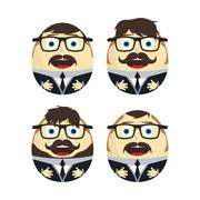 Businessman egg doll Stock Illustration