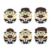 Businessman egg doll Stock Illustration