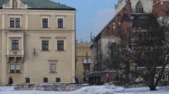 Wawel on bank of Vistula river in Krakow, Poland Stock Footage
