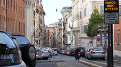 Rome architecture - streets and buildings Stock Footage
