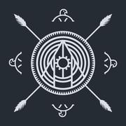 native ethnic art symbol - stock illustration