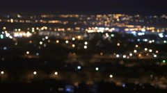 The blur light of the night city. Real time capture Stock Footage