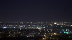 The night city on the the background of cloud. Real time capture - stock footage