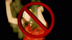 No dance like crazy allowed Stock Footage