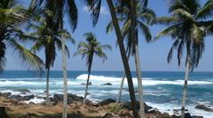 Waves at Dondra coast Stock Footage