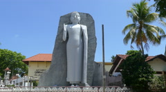 Buddha statue at the Sri Vishnu Maha Devalaya Stock Footage