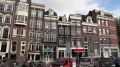 Typical buildings from amsterdam Stock Footage