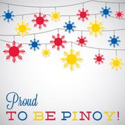 String Philippine Independence Day card in vector format. Stock Illustration