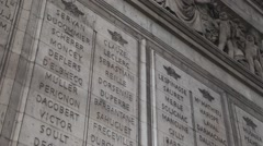 Monument to the fallen soldier at the Arch of Triumph in Paris Stock Footage