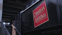 Old Canadian National train wagon at the Toronto Railway Museum Stock Footage