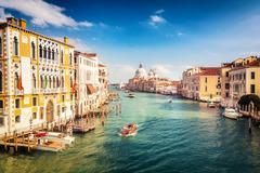 Venice at sunny evening - stock photo