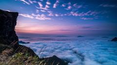 Beautiful Sunrise, dramatic cloud of sea - stock footage