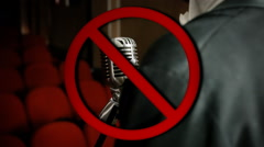 No mic sing allowed Stock Footage