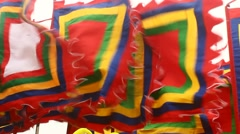 Flag in traditional festivals, asia Stock Footage