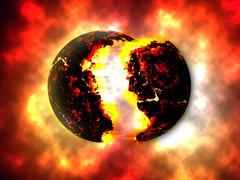 Exploding Planettheory - stock illustration