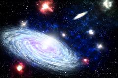 Spiral Galaxy in deep space - stock illustration