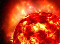 The sun, supernova Stock Illustration