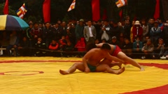 Wrestling in traditional festivals, Asia Stock Footage