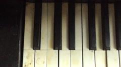 Vintage old broken piano keys - stock footage