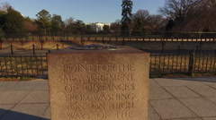 The Zero Milestone at the South Lawn of The White House Stock Footage