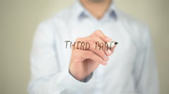 Third Party, Man Writing on Transparent Screen Stock Footage