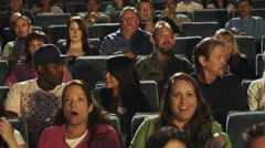 Audience at movie - stock footage