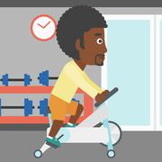 Man doing cycling exercise - stock illustration