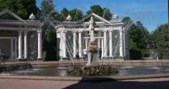 Fountain Eve. Petergof Stock Footage