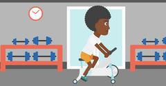 Woman doing cycling exercise - stock illustration
