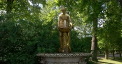 The fountain of the Goddess in the Western part of the garden. Petergof Stock Footage
