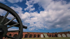 Timelapse of Fort Pulaski, Savannah - Cannon Stock Footage