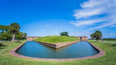 Timelapse of Fort Pulaski, Savannah - Front Stock Footage