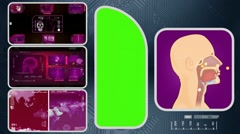 Breathing - Computer Scanning - Human detector - World - pink 02 Stock Footage
