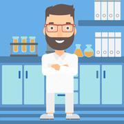 Male laboratory assistant - stock illustration